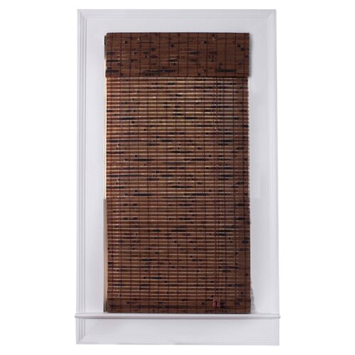 Top Blinds Arlo Blinds Bamboo Roman Shade in Java Vintage