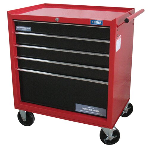 "Kodiak Rolling 27"" Wide 5 Drawer Bottom Cabinet"
