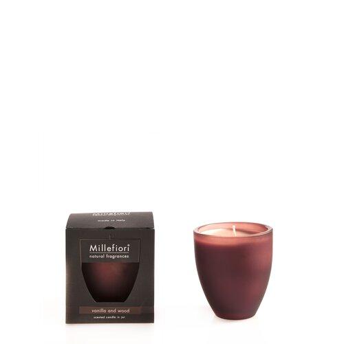 Millefiori Milano Natural Fragrances Vanilla & Wood Scented Jar Candle