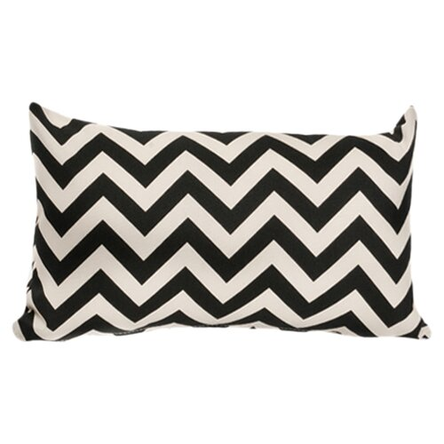 Chevron Lumbar Outdoor Pillow