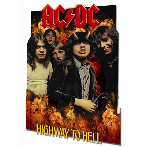 3D AC/DC Highway To Hell Framed Vintage Advertisement