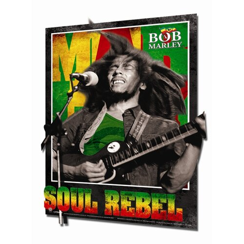3D Bob Marley Soul Rebel Framed Vintage Advertisement