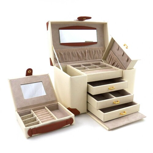 Bey-Berk 4 Level Multi Compartment Jewelry Box