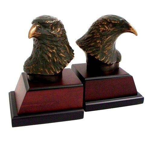 Bey-Berk Eagle Head Book Ends