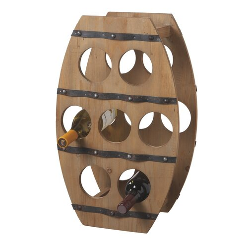 Wine Barrel 7 Bottle Wine Rack