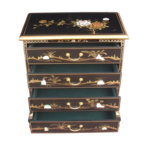 Grand International Decor Mother Of Pearl 4 Drawers Chest