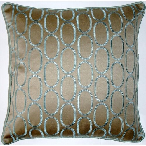 Oval Pod Embroidery Decorative Pillow