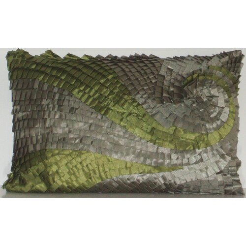 Ombre Pleated Swirl Decorative Pillow