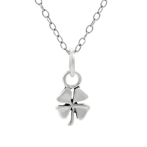 Children's Sterling Silver Four Leaf Clover Necklace