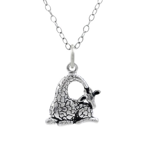 Children's Sterling Silver Giraffe Necklace