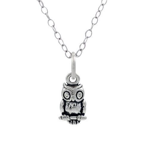 Children's Sterling Silver Owl Necklace