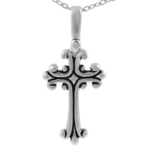 Sterling Silver Antique Cross Necklace
