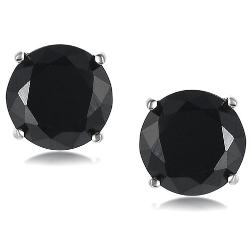 Round Cut 8mm Cubic Zirconia Stud Earrings