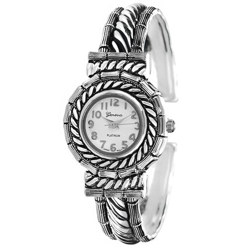 Geneva Platinum Women's Concho Cuff Watch