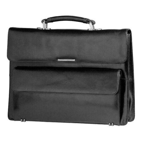Mancini Signature Classic Leather Briefcase