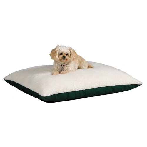 Quiet Time e'Sensuals Synthetic Sheepskin and Poly-Cotton Rectangle Dog Pillow