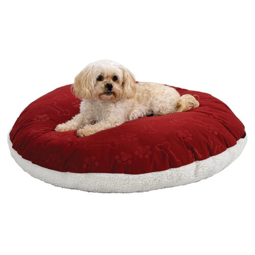 Quiet Time e'Sensuals Encased Extra Stuffed Polyfiber Round Dog Pillow