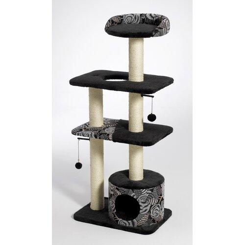 Midwest Homes For Pets Feline Nuvo Tower Cat Furniture in Black