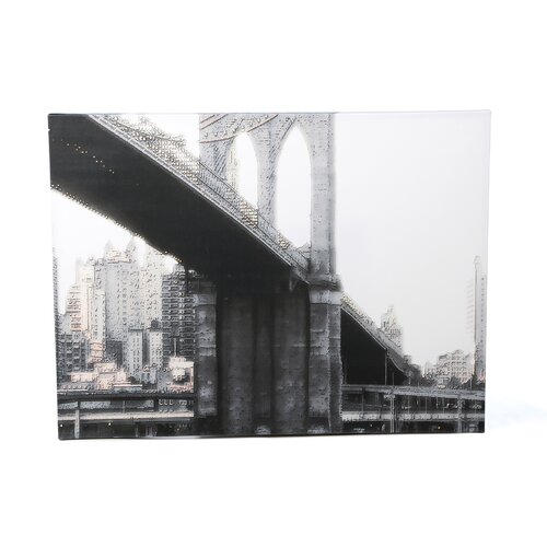 'NYC Brooklyn Bridge' by Linda Parker Photographic Print on Canvas