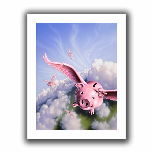 'Piggies' by Jerry Lofaro Canvas Poster