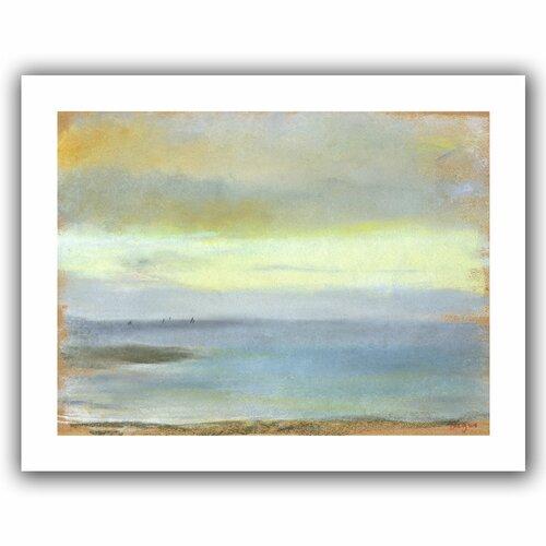 Art Wall 'Marine Sunset' by Edgar Degas Canvas Poster