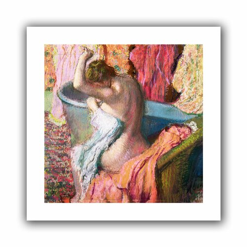 'Seated Bather' by Edgar Degas Canvas Poster