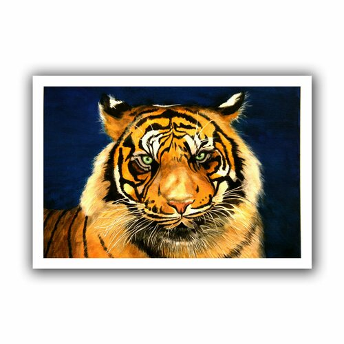 'Tiger by Lins' by Lindsey Janich Canvas Poster