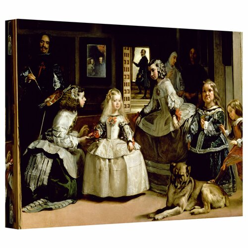 Art Wall 'Las Meninas, detail of the lower half depicting the family of Philip IV of Spain' by Diego Velazquez Gallery-Wrapped on Canvas
