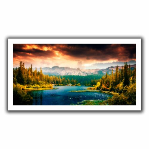 Art Wall 'Mountain View' by John Black Canvas Poster