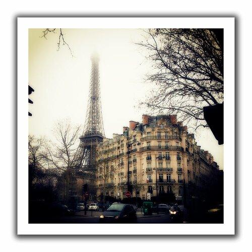 'Paris' by John Black Unwrapped on Canvas