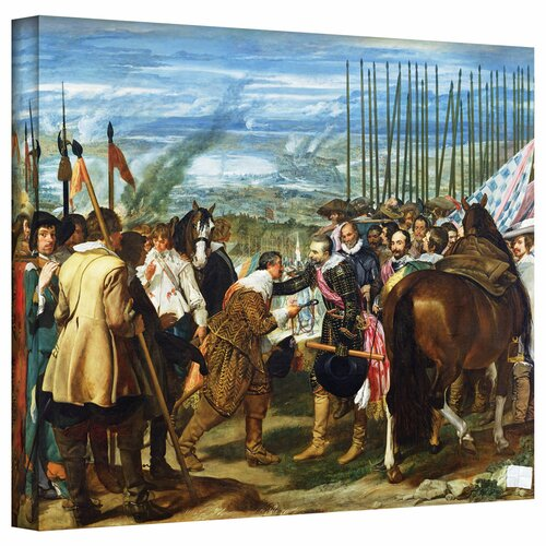 'The Surrender of Breda' by Diego Velazquez Gallery-Wrapped on Canvas
