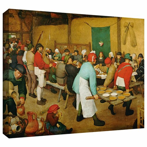Art Wall 'Peasant Wedding' by Pieter Bruegel Gallery Wrapped on Canvas