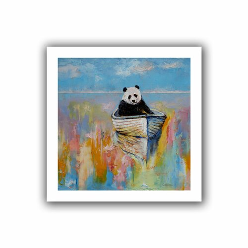 Art Wall 'Panda' by Michael Creese Unwrapped on Canvas