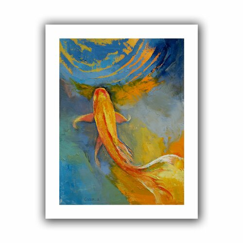 'Butterfly Koi' by Michael Creese Canvas Poster