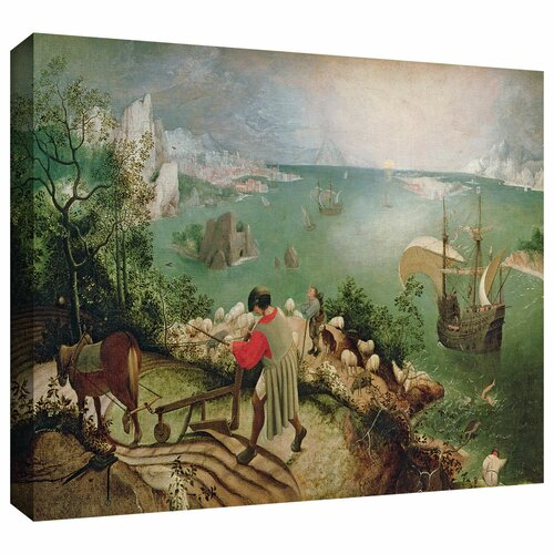Art Wall 'Landscape with the Fall of Icarus' by Pieter Bruegel Gallery Wrapped on Canvas