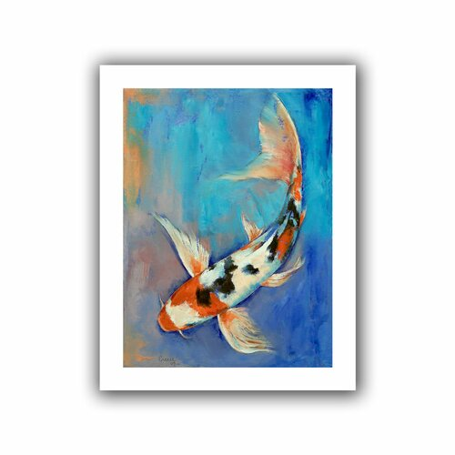 'Sanke Butterfly Koi' by Michael Creese Canvas Poster
