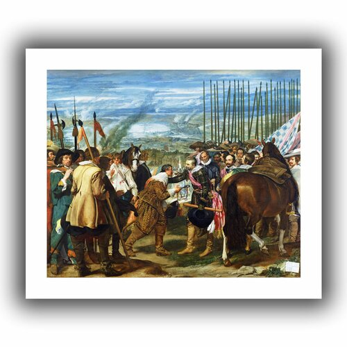 Art Wall 'The Surrender of Breda' by Diego Velazquez Canvas Poster