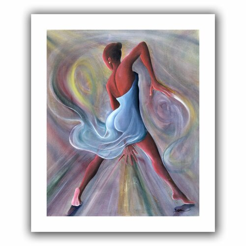Art Wall 'Blue Dress' by Ikahl Beckford Unwrapped on Canvas