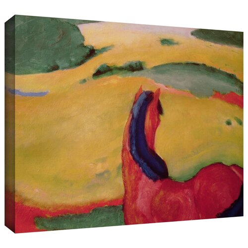 'Horse in a Landscape' by Franz Marc Gallery Wrapped on Canvas