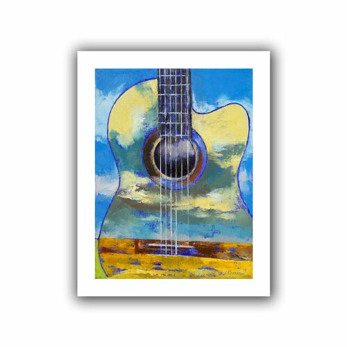 Art Wall 'Guitar and Clouds' by Michael Creese Canvas Poster