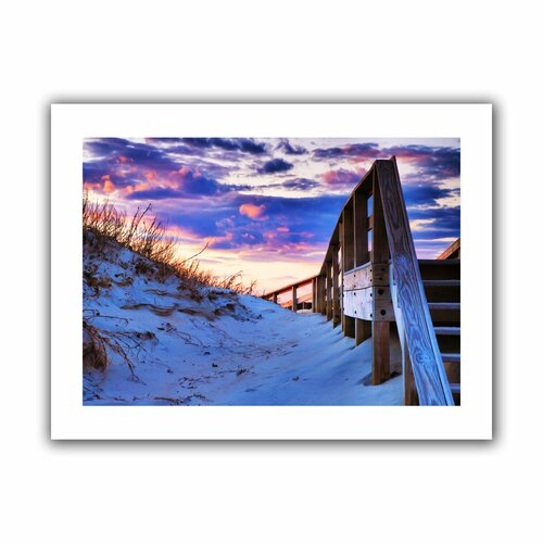'Sunset At Ocracoke' by Steven Ainsworth Canvas Poster