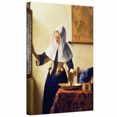 'Young Woman with a Water Jug' by Johannes Vermeer Gallery-Wrapped on Canvas