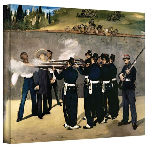 'The Execution of Emperor Maximilian' by Edouard Manet Gallery-Wrapped on Canvas