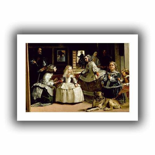 'Las Meninas, detail of the lower half depicting the family of Philip IV of Spain' ...