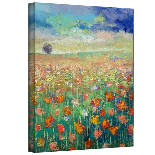 'Dancing Poppies' by Michael Creese Gallery-Wrapped on Canvas