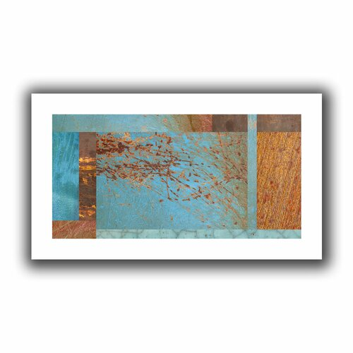 'Blue Brown Collage' by Cora Niele Unwrapped on Canvas