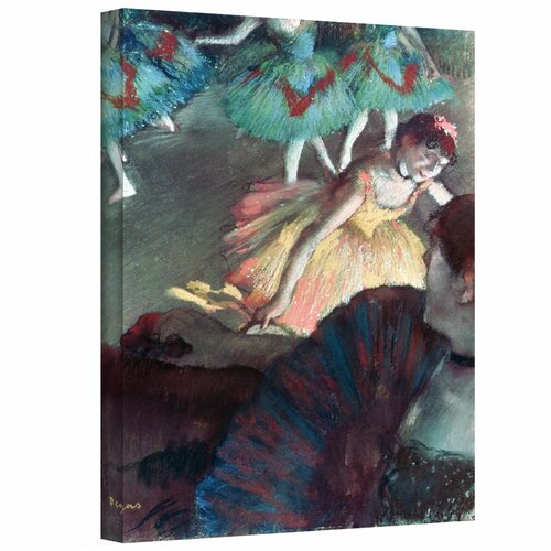 'Ballerina and Lady with a Fan' by Edgar Degas Gallery-Wrapped on Canvas