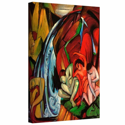 'The Waterfall' by Franz Marc Gallery Wrapped on Canvas