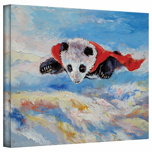 Art Wall 'Panda Superhero' by Michael Creese Gallery-Wrapped on Canvas