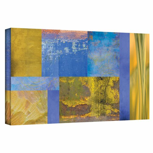 'Blue Yellow Collage' by Cora Niele Gallery Wrapped on Canvas